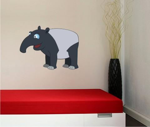 tapir wandtattoo