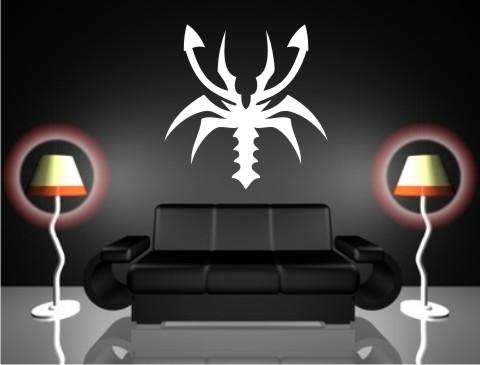 skorpion wandtattoo