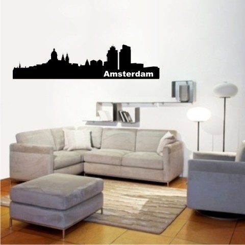 wandtattoo skylines amsterdam