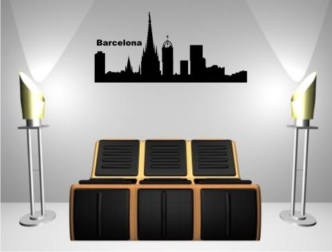 wandtattoo skylines barcelona