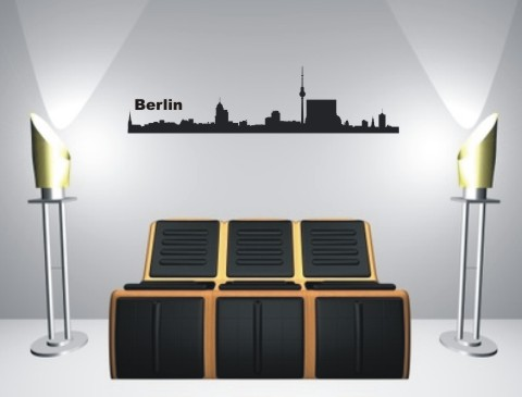 wandtattoo skylines berlin