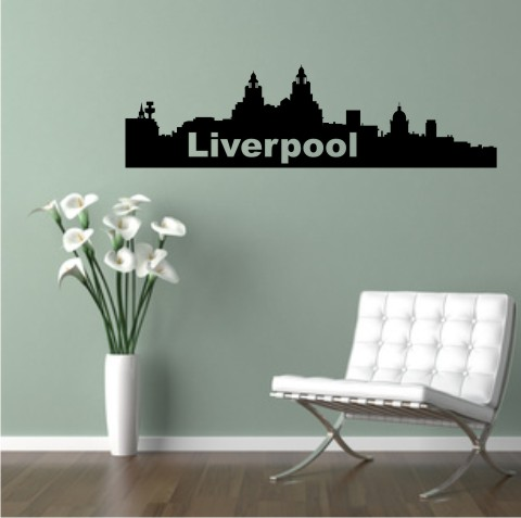 wandtattoo skylines Liverpool