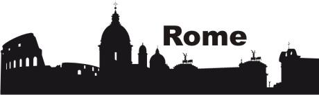 wandtattoo skylines rom rome