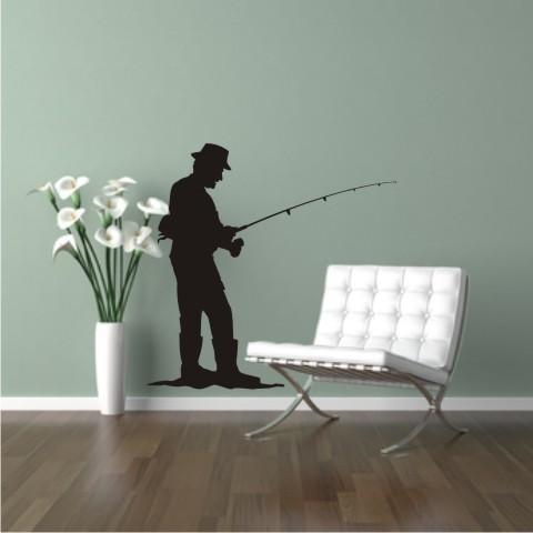 sport aufkleber angeln