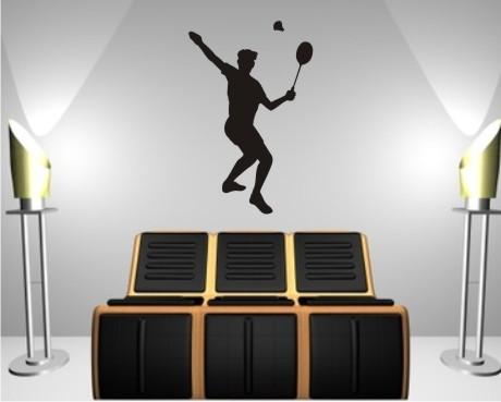 Badminton wandtattoo