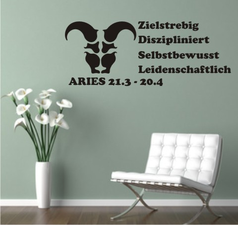 aries widder wandtattoo