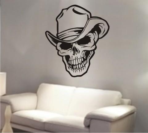 wandtattoo totenkopf skull
