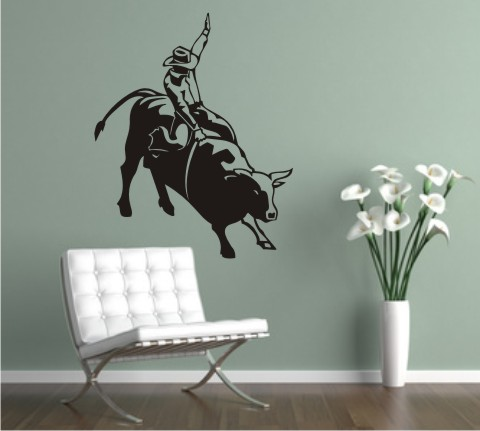 wandtattoo bull reiter