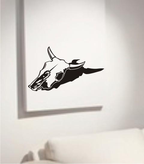 wandtattoo Cow Skull