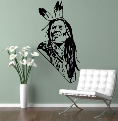 wandtattoo indianer krieger
