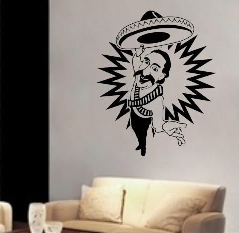 wandtattoo Mexikaner Rancher