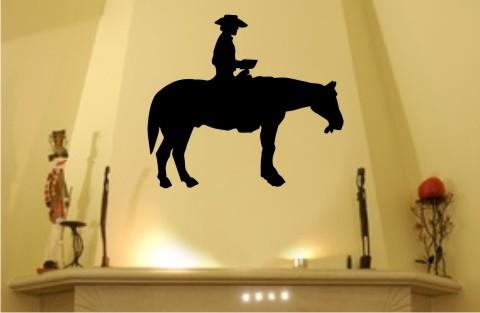 cowboy wandtattoo pferd und reiter