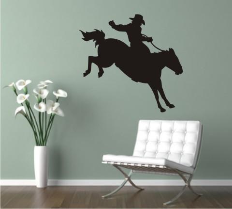 wandtattoo reiter pferd