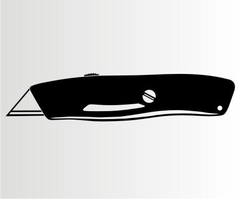 cuttermesser aufkleber werkezeug