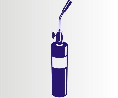 propangas brenner aufkleber werkezeug