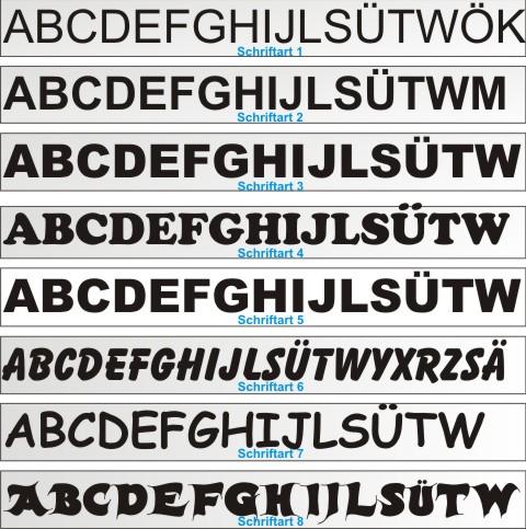 klebebuchstaben aufkleber schriftarten