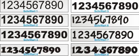 Zahlen Aufkleber Selbst Gestalten Zahl Ziffer Nummer Aufkleber